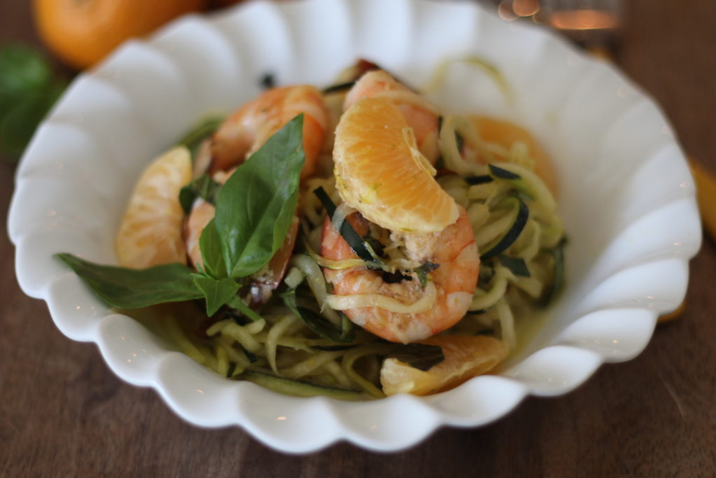 PaleOMG Cold Citrus Shrimp Zoodle Bowl