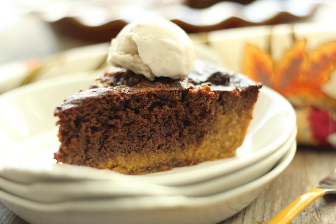 PaleOMG Brownie Eggnog Pumpkin Pie