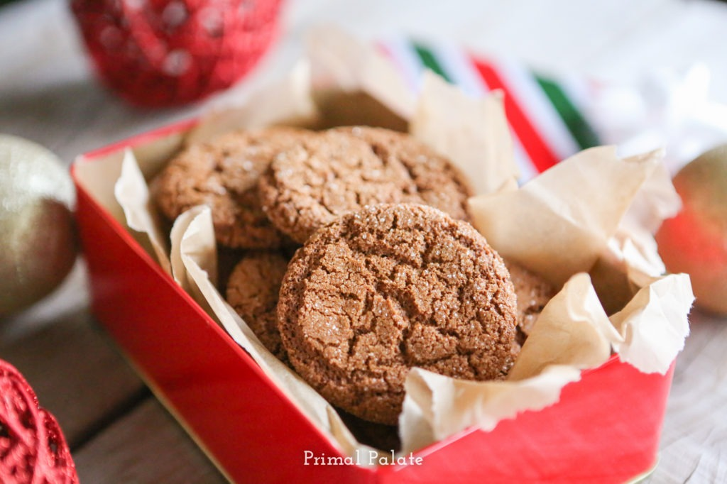 Paleo Gingersnaps | Grain-free Christmas Cookies-6