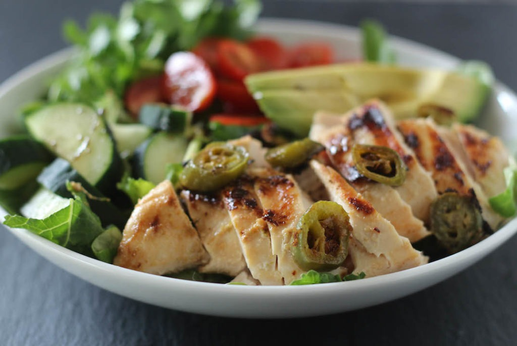 PaleOMG Coconut Lime Jalapeno Marinated Chicken Salad