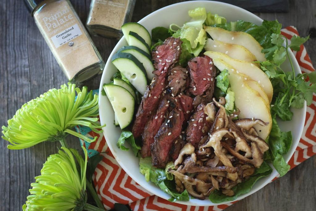 PaleOMG Asian Steak & Pear Salad