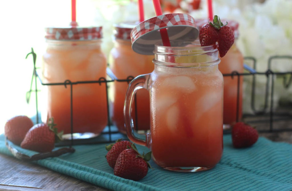 PaleOMG Strawberry Vanilla Bean Sparkling Lemonade