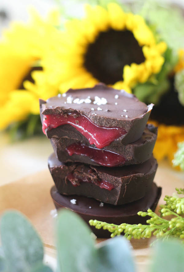 PaleOMG Raspberry Caramel Chocolate Cups