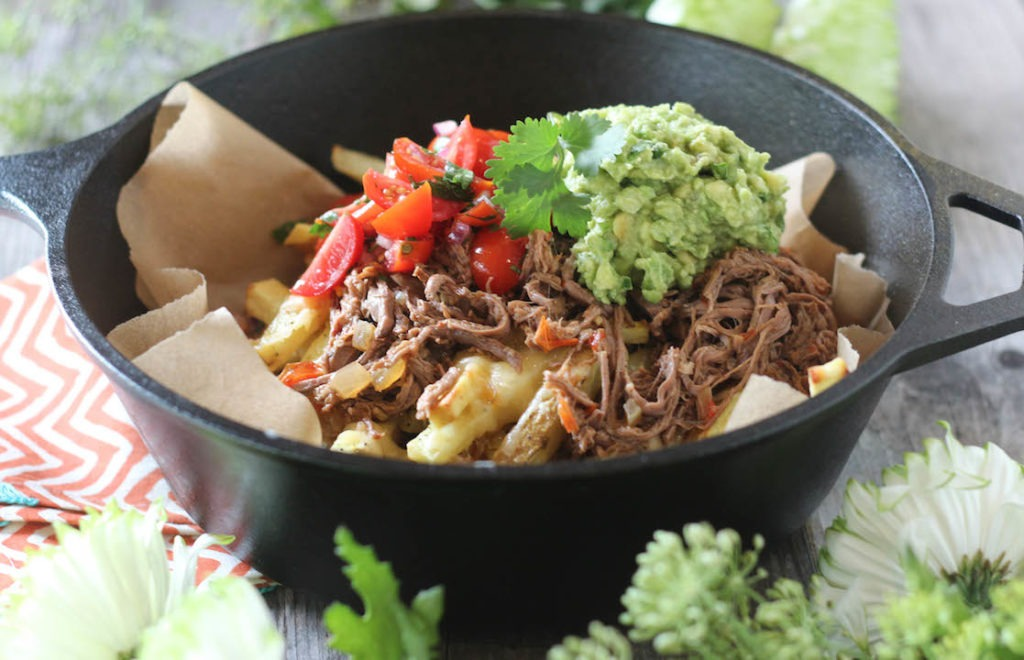 PaleOMG Crockpot Carne Asada Loaded Fries
