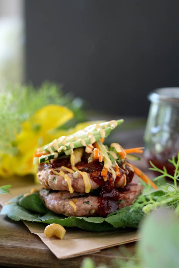 PaleOMG Thai Sweet Chili Sauce Pork Burgers