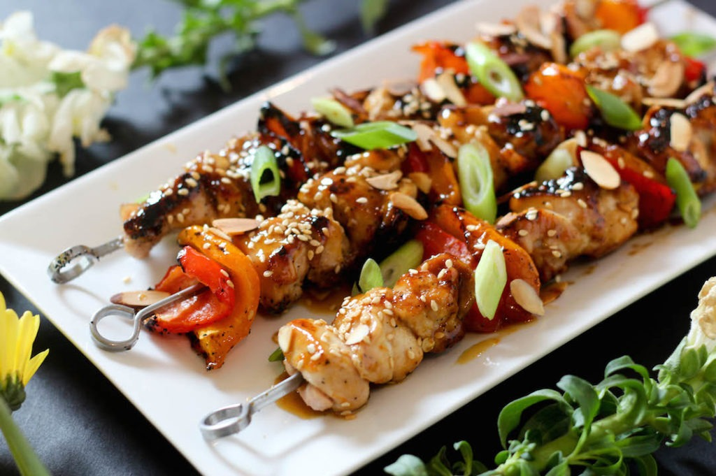 PaleOMG Orange Glazed Chicken Kabobs