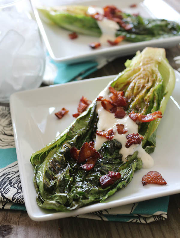 PaleOMG Grilled Romaine Hearts with Bacon & Celery Salt Ranch
