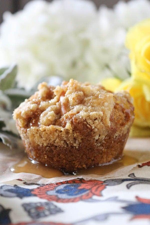 PaleOMG Pumpkin Apple Streusel Muffins with Apple Cider Caramel