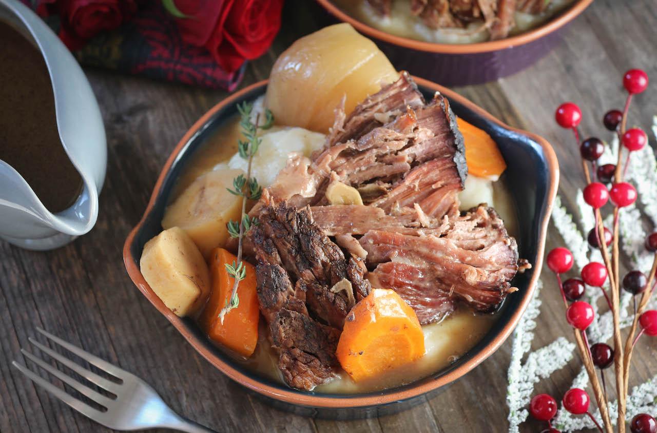 PaleOMG Slow Cooker Pot Roast with Easy Gravy