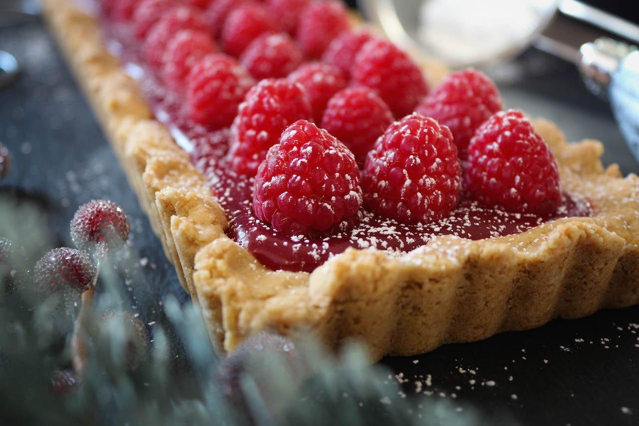 PaleOMG Raspberry Caramel Tart