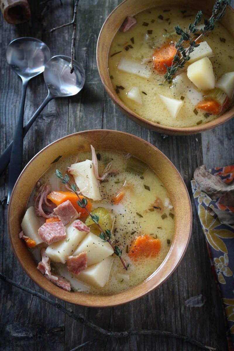 Creamy & Heart Ham Bone Potato Soup