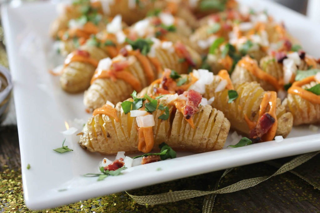 PaleOMG NYE Fingerling Hasselback Loaded Potatoes