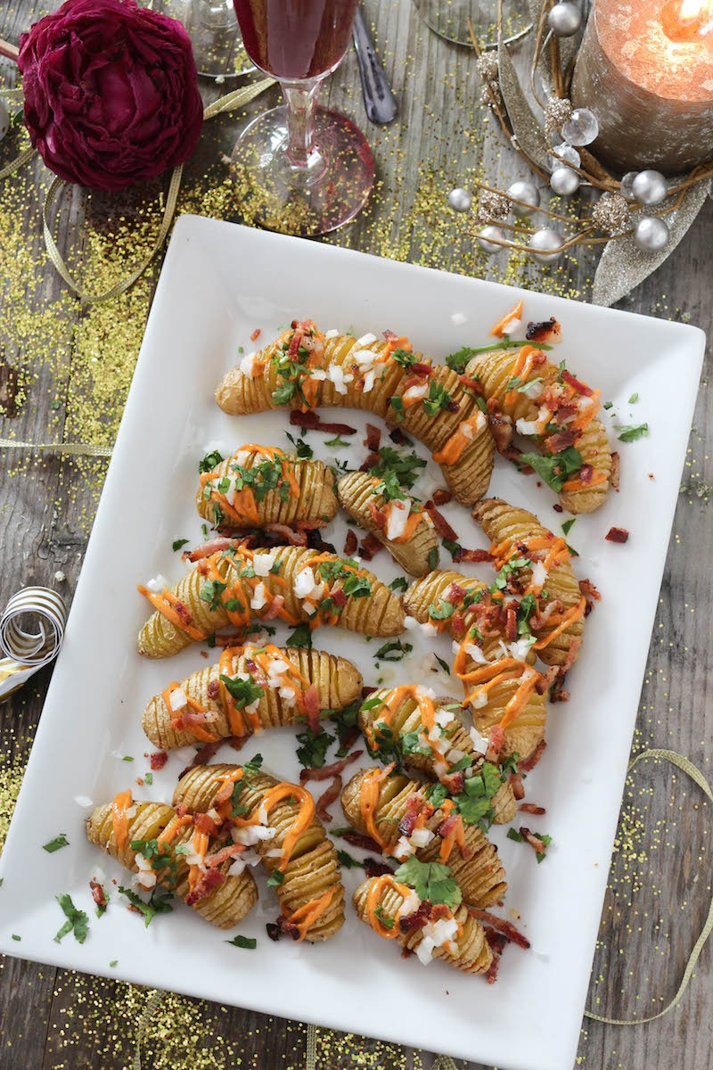 PaleOMG Loaded Hasselback Potatoes