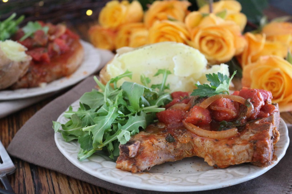Tomato Balsamic Porks Chops