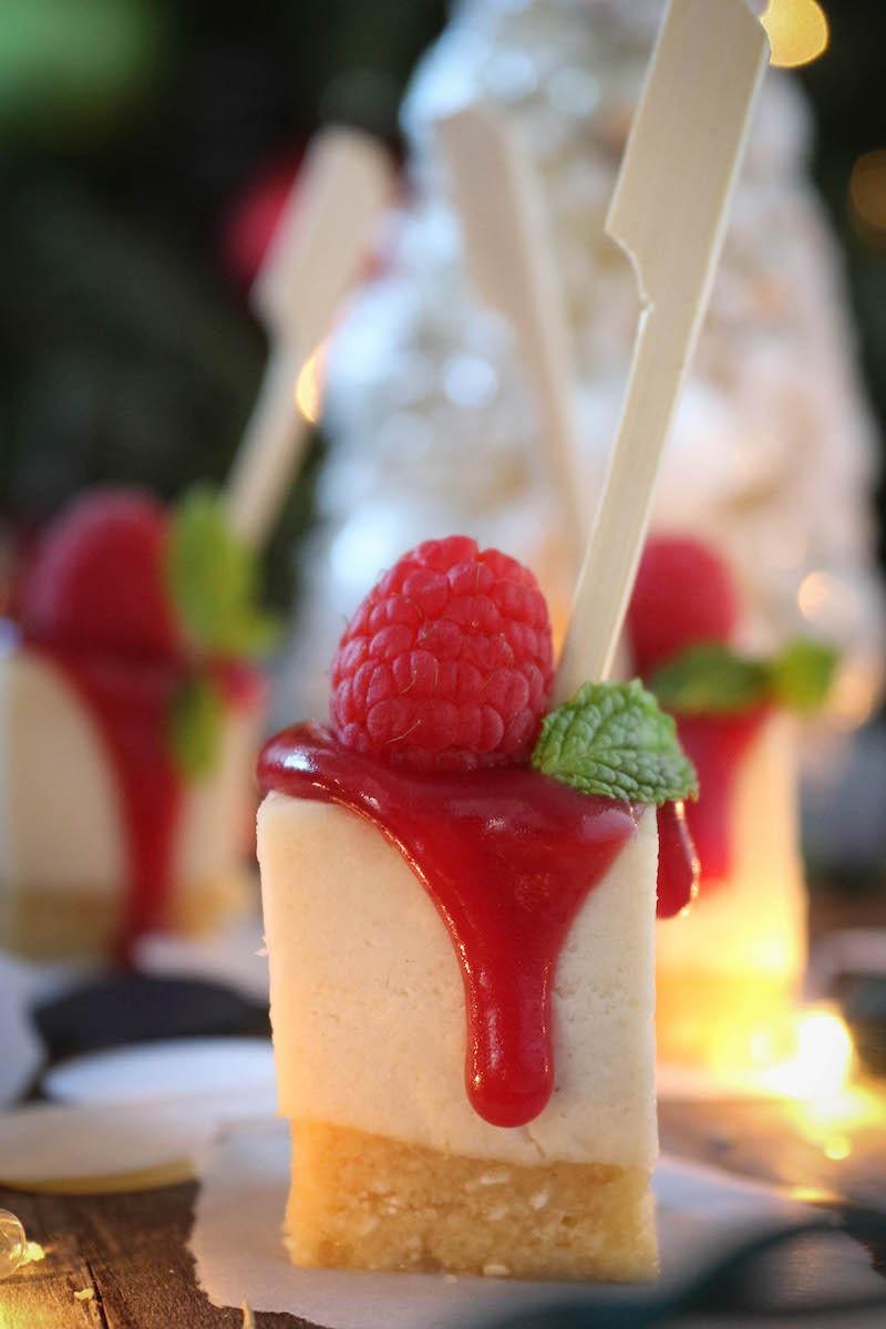 PaleOMG Raspberry Cheesecake Bites
