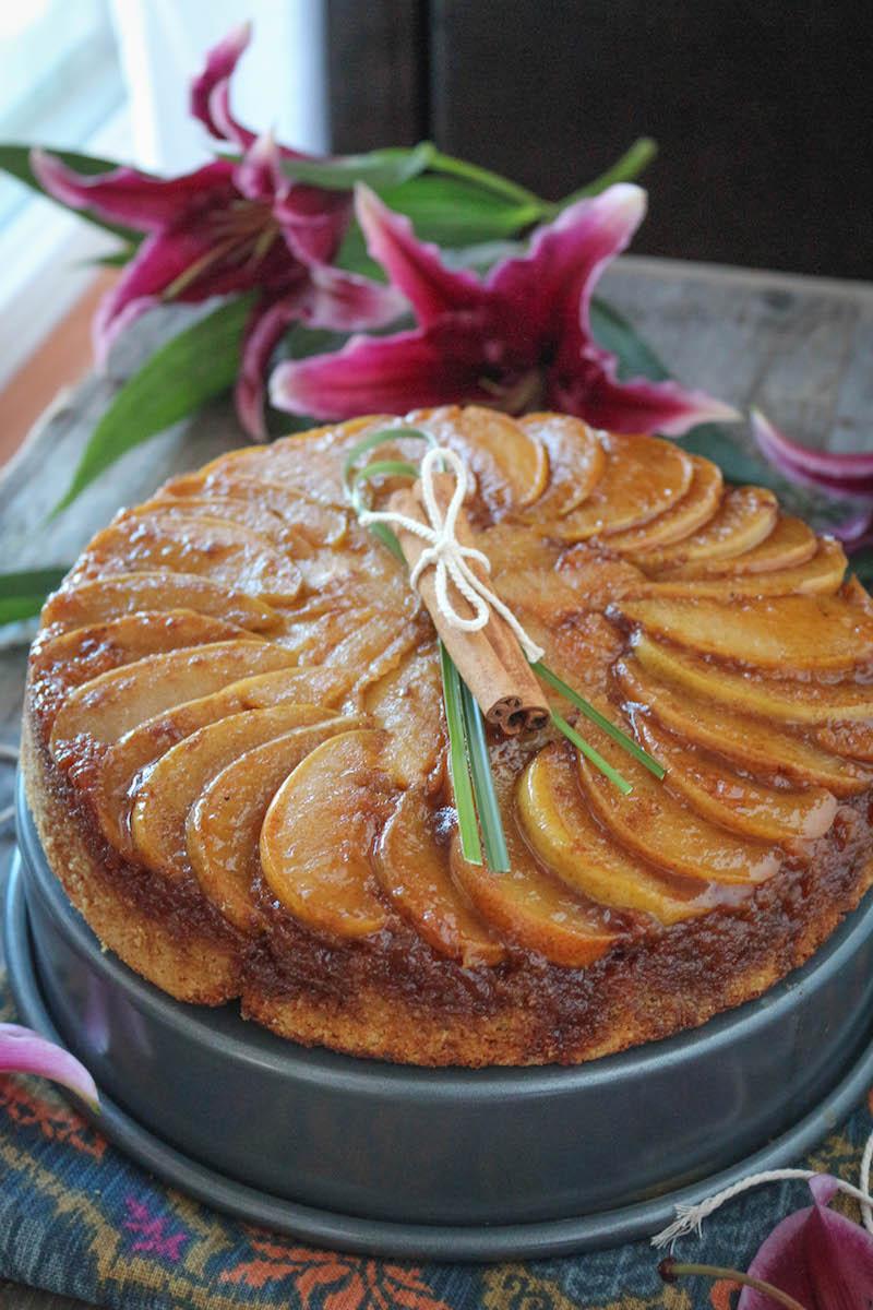 PaleOMG Caramel Cardamon Pear Upside Down Cake