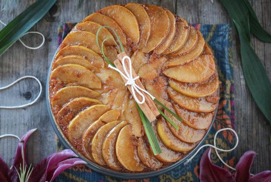PaleOMG Cardamom Caramel Pear Upside Down Cake