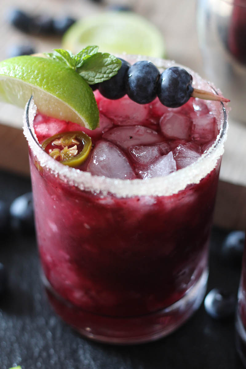 PaleOMG Blueberry Jalapeno Margaritas
