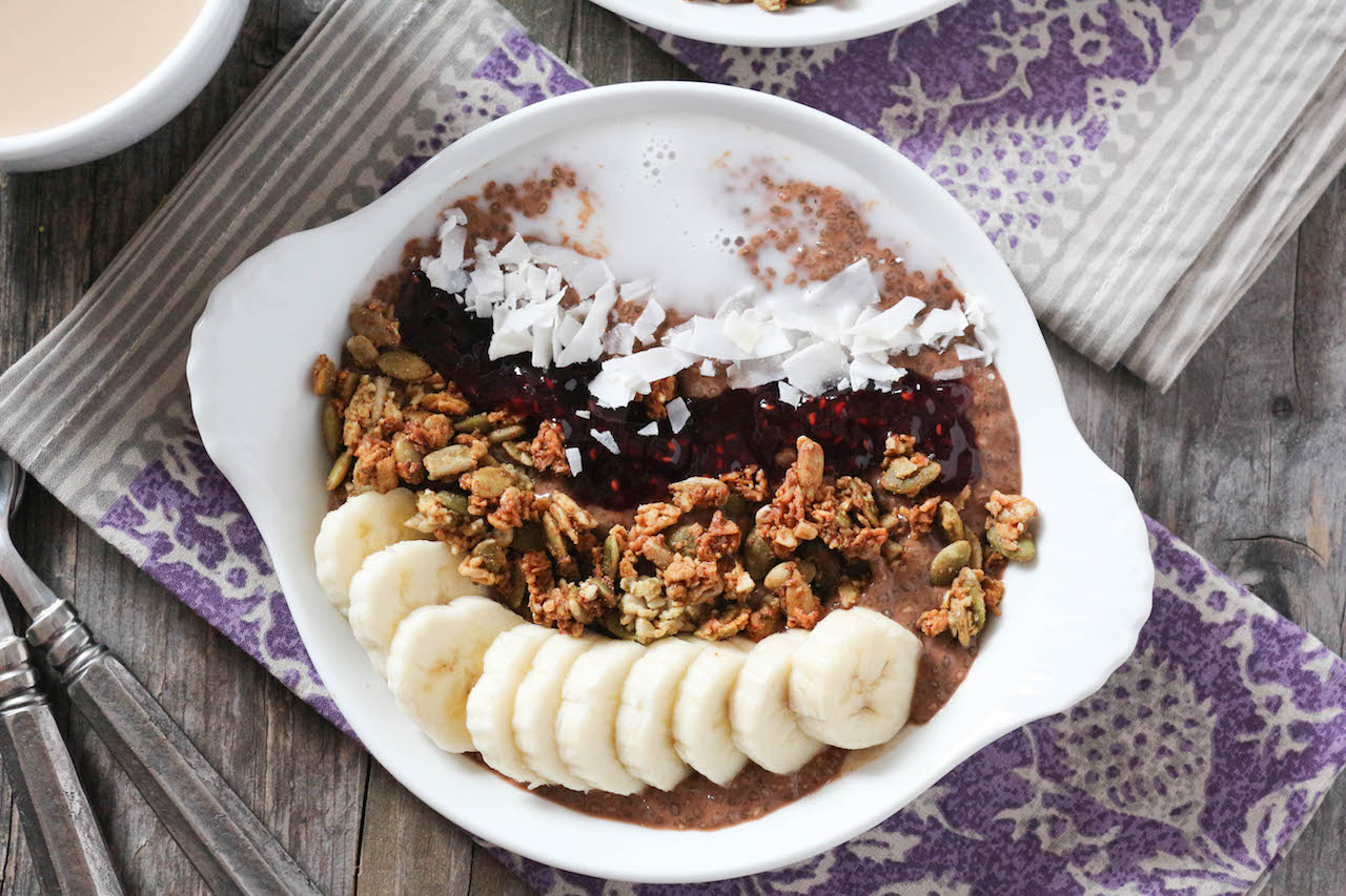 PaleOMG Chocolate Coffee Protein Breakfast Bowls
