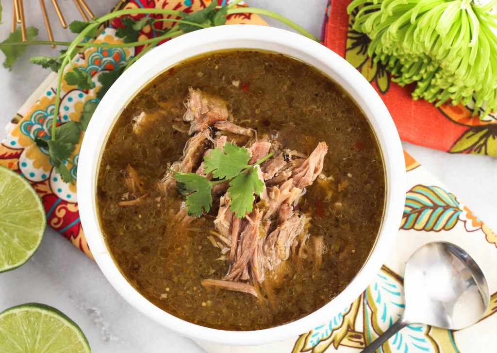 PaleOMG Slow Cooker Tomatillo Pork Chile Verde