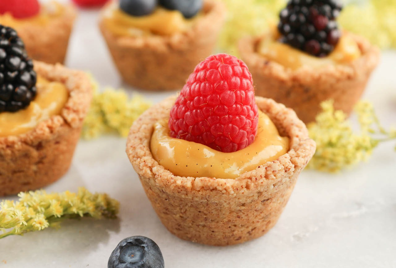 PaleOMG Lemon Curd Berry Tarts