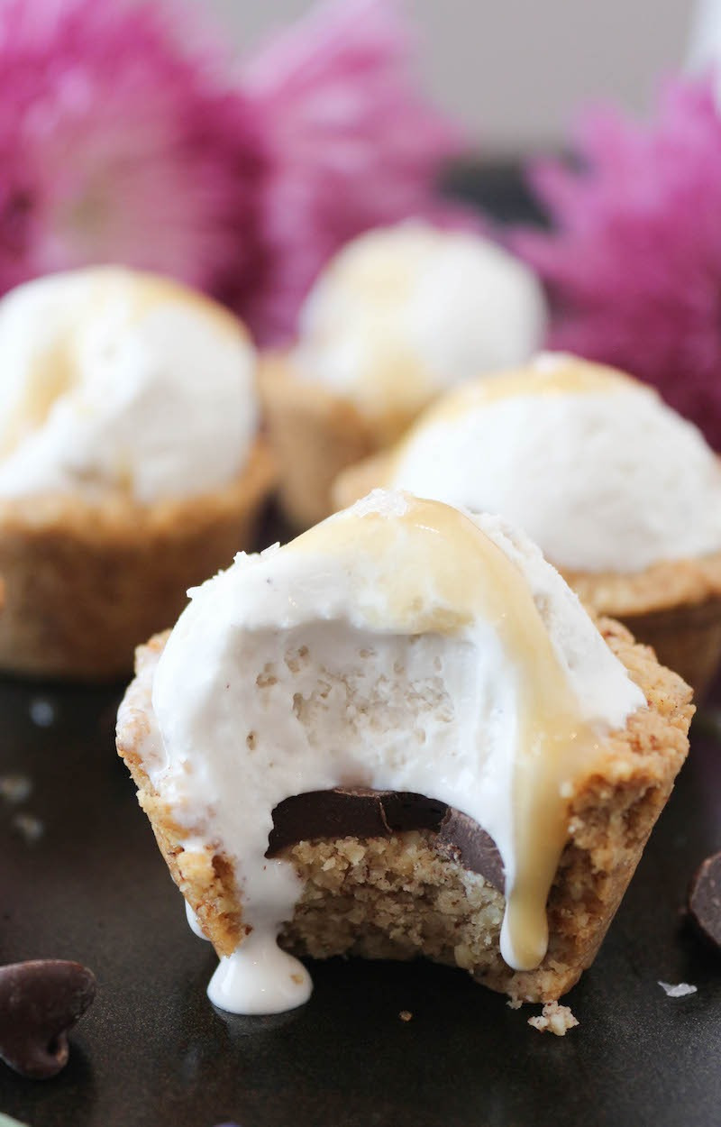 PaleOMG Salted Caramel Cookie Ice Cream Cups