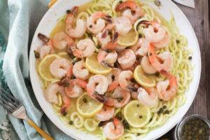 PaleOMG Shrimp Piccata Pasta