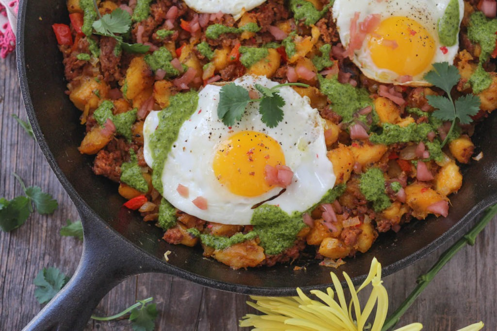 PaleOMG Chorizo Plantain Hash