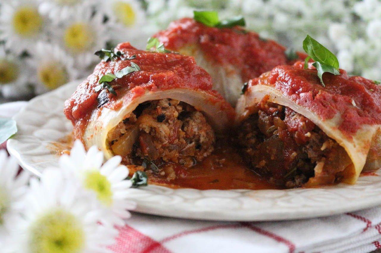 PaleOMG Cabbage Pizza Rolls