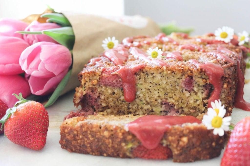 PaleOMG Strawberry Poppyseed Bread