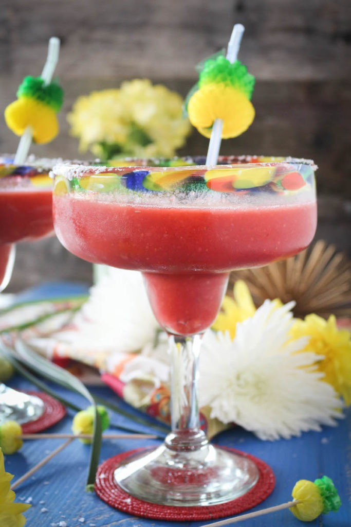 Frozen Strawberry Pineapple Margaritas
