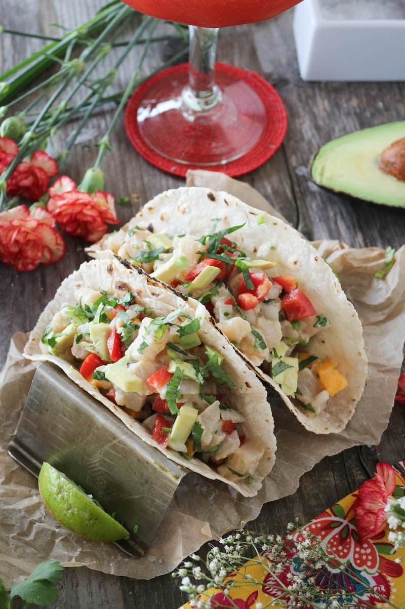 PaleOMG Mahi Mahi Mango Ceviche Tacos