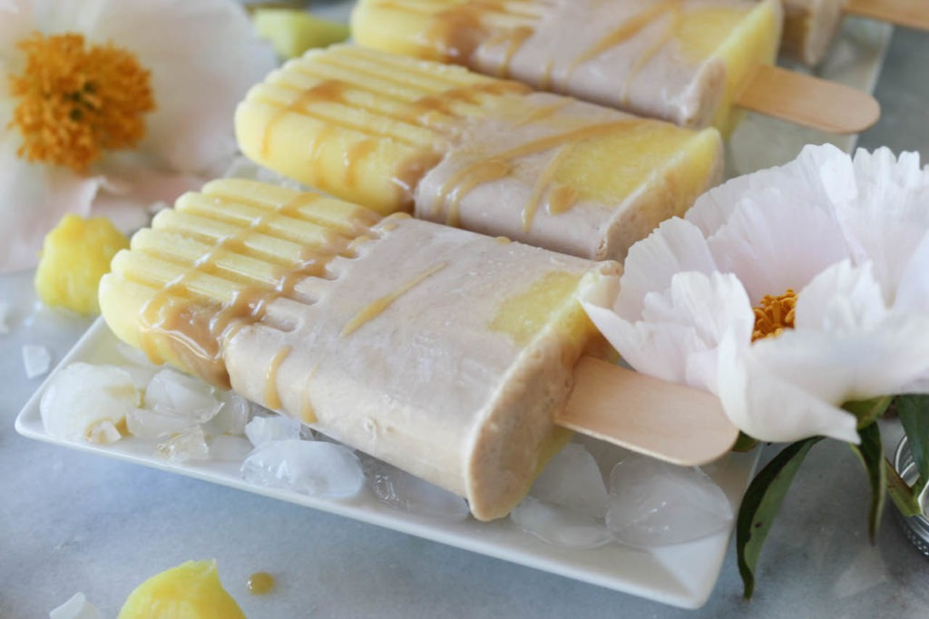 PaleOMG Caramel Coconut Cream Pineapple Popsicles