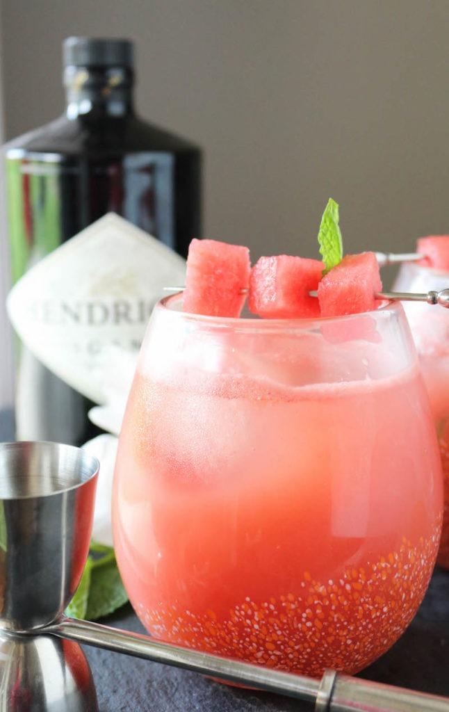 PaleOMG Watermelon Rhubarb Gin Fizz