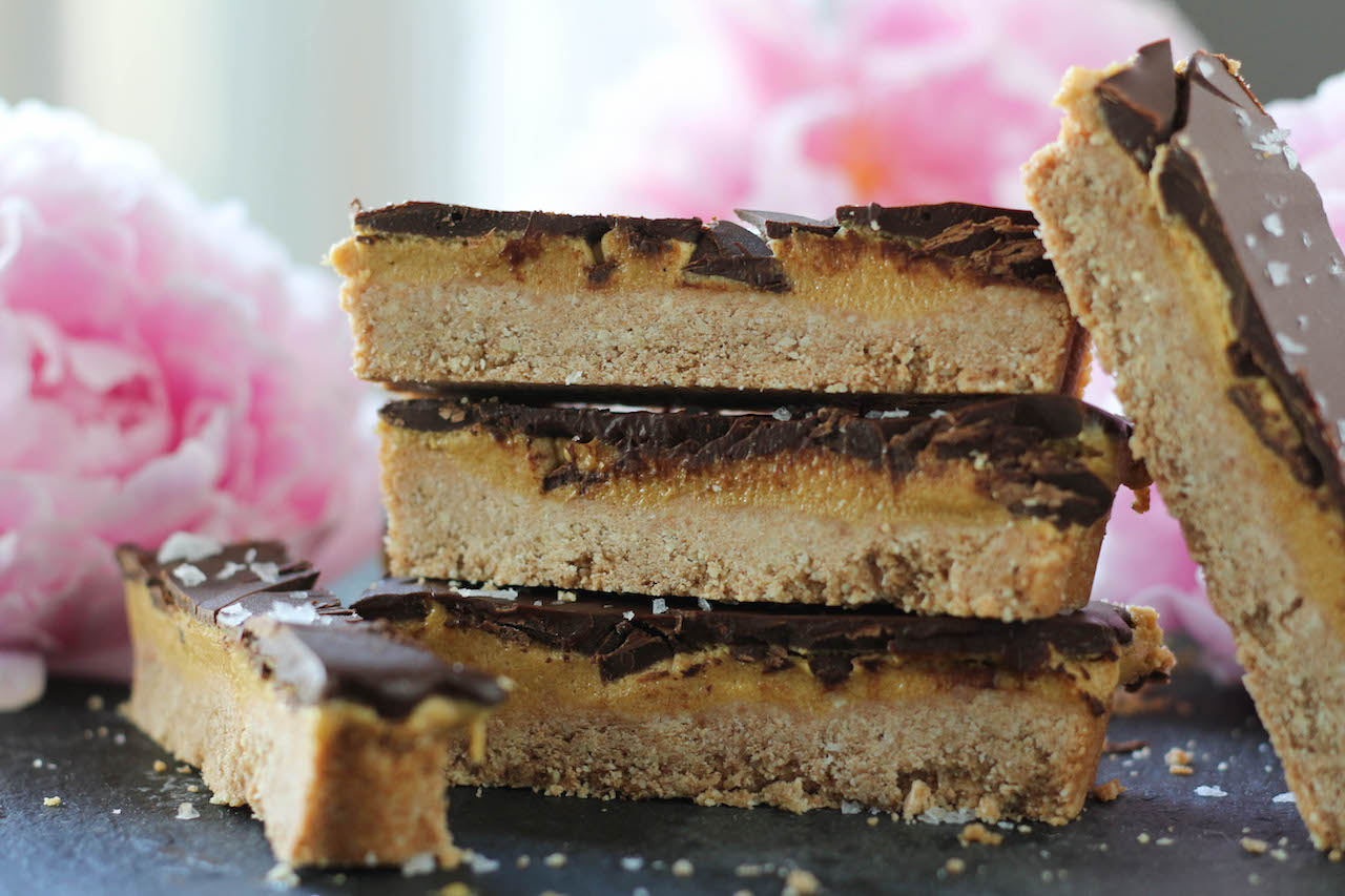 "PaleOMG Chocolate ""Peanut Butter"" Cookie Bars"