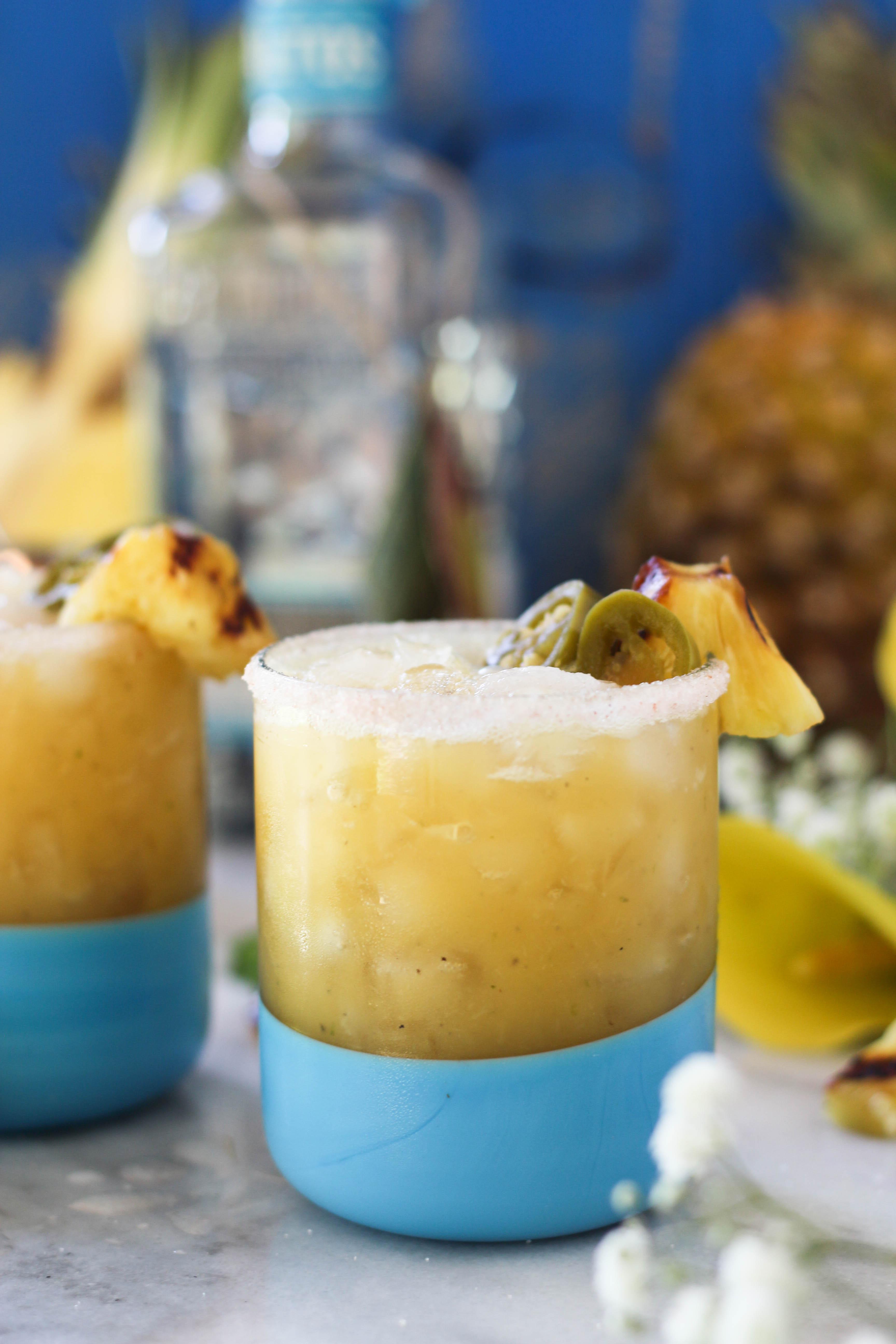 PaleOMG Grilled Pineapple Jalapeño Margaritas