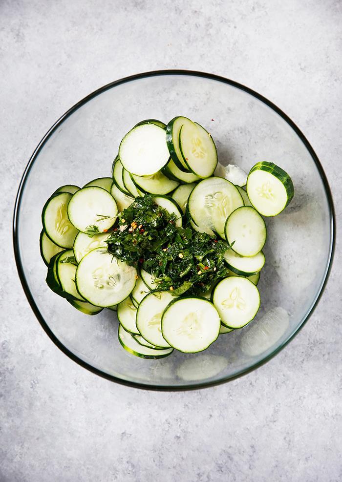 Lexi's Clean Kitchen Herb Cucumber Salad