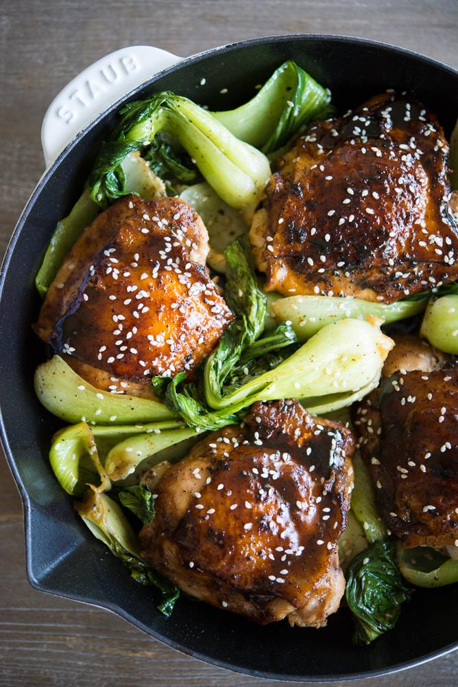 Fed and Fit Teriyaki Chicken Thighs with Bok Choy