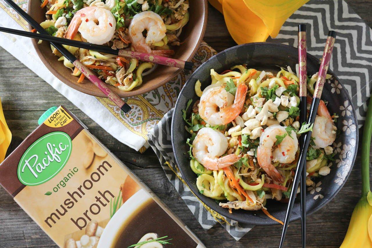 PaleOMG Shrimp Zucchini Pad Thai