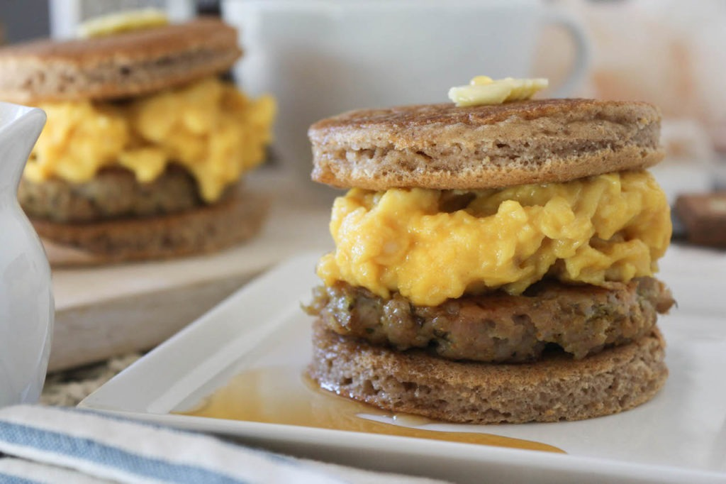 PaleOMG Pancake Breakfast Sandwiches