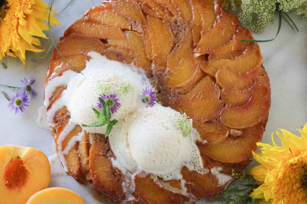 PaleOMG Cinnamon Peach Upside Down Cake
