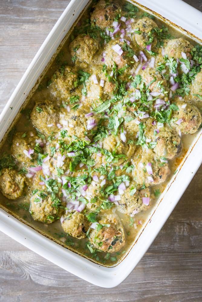 Cassy's Enchilada Verde Turkey Meatballs
