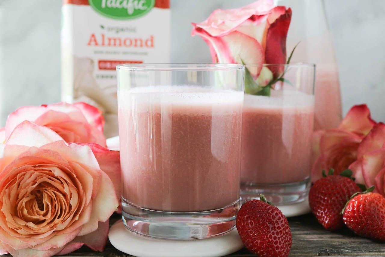PaleOMG Strawberry Almond Milk