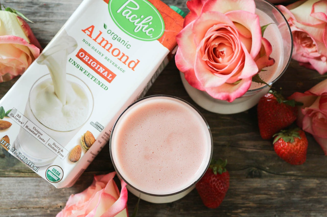 PaleOMG Strawberry Almond Milk