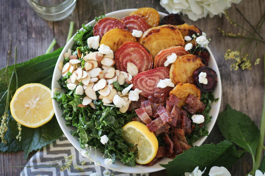 PaleOMG Kale, Candied Bacon & Roasted Beet Salad