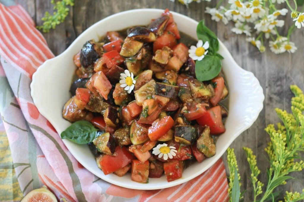 PaleMG Fig & Tomato Basil Salad