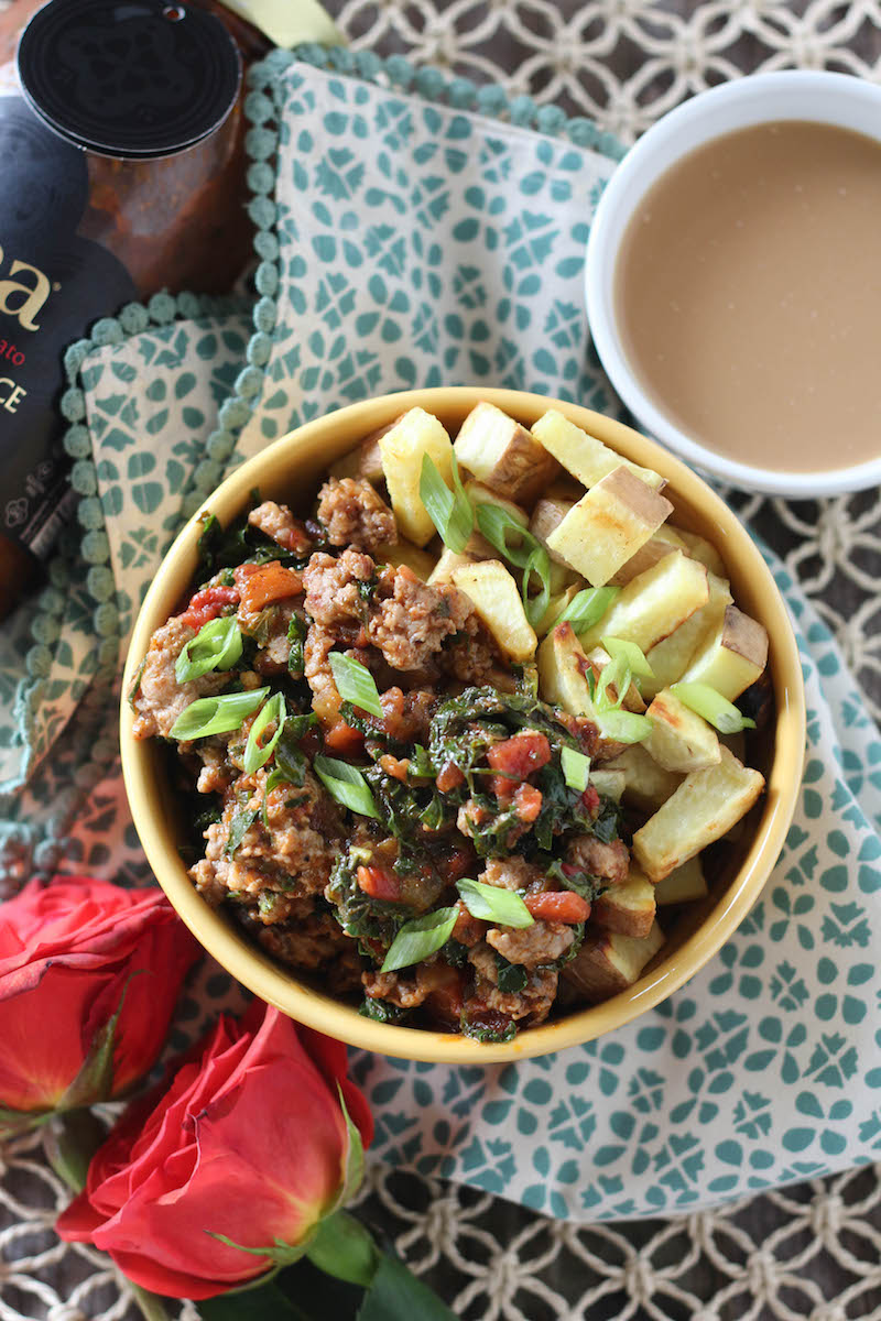 PaleOMG 5 Ingredient Egg-Free Shashuka Breakfast Bowls