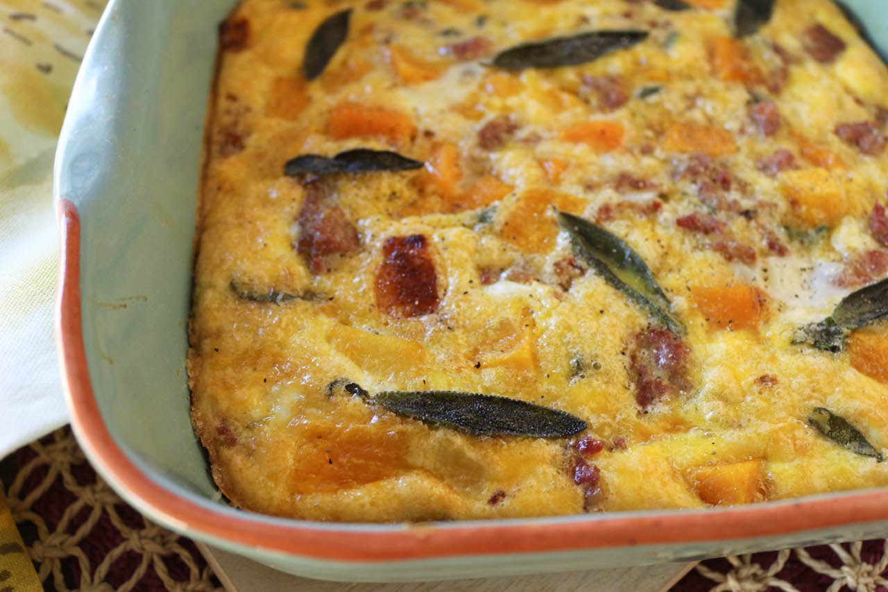 PaleOMG 5 Ingredient Butternut Squash & Sage Breakfast Casserole