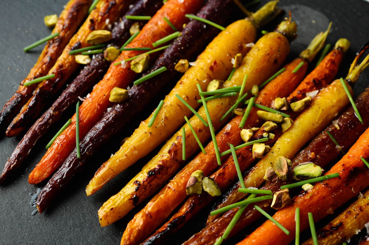 PaleOMG Maple Dijon Roasted Carrots
