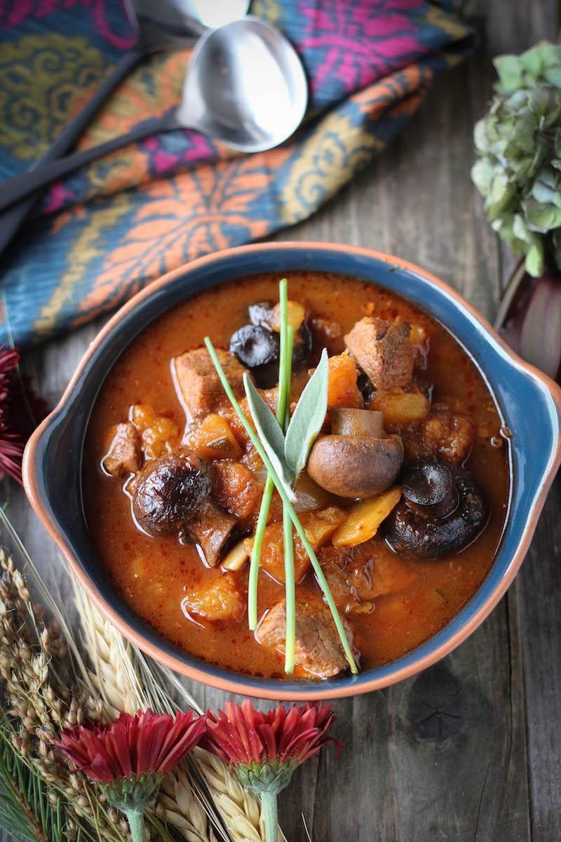 PaleOMG Slow Cooker Butternut Squash & Sage Beef Stew